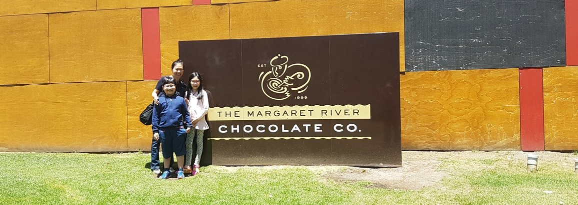On the Margaret River Wine & Nature Tour at the Margaret River Chocolate Factory